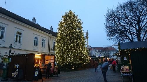 Christkindlmarkt Fußgängerzone Eisenstadt